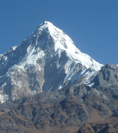 View of Annapurna South (7,219m)
