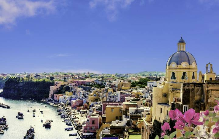 The Picturesque island of Procida, Naples, Italy