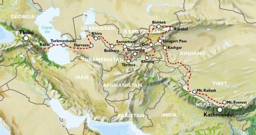 EXPLORATORY - TBILISI to KATHMANDU (73 days) - Ultimate Asia Overland
