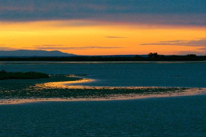 Sunset over the lagoon (Ian McColl)
