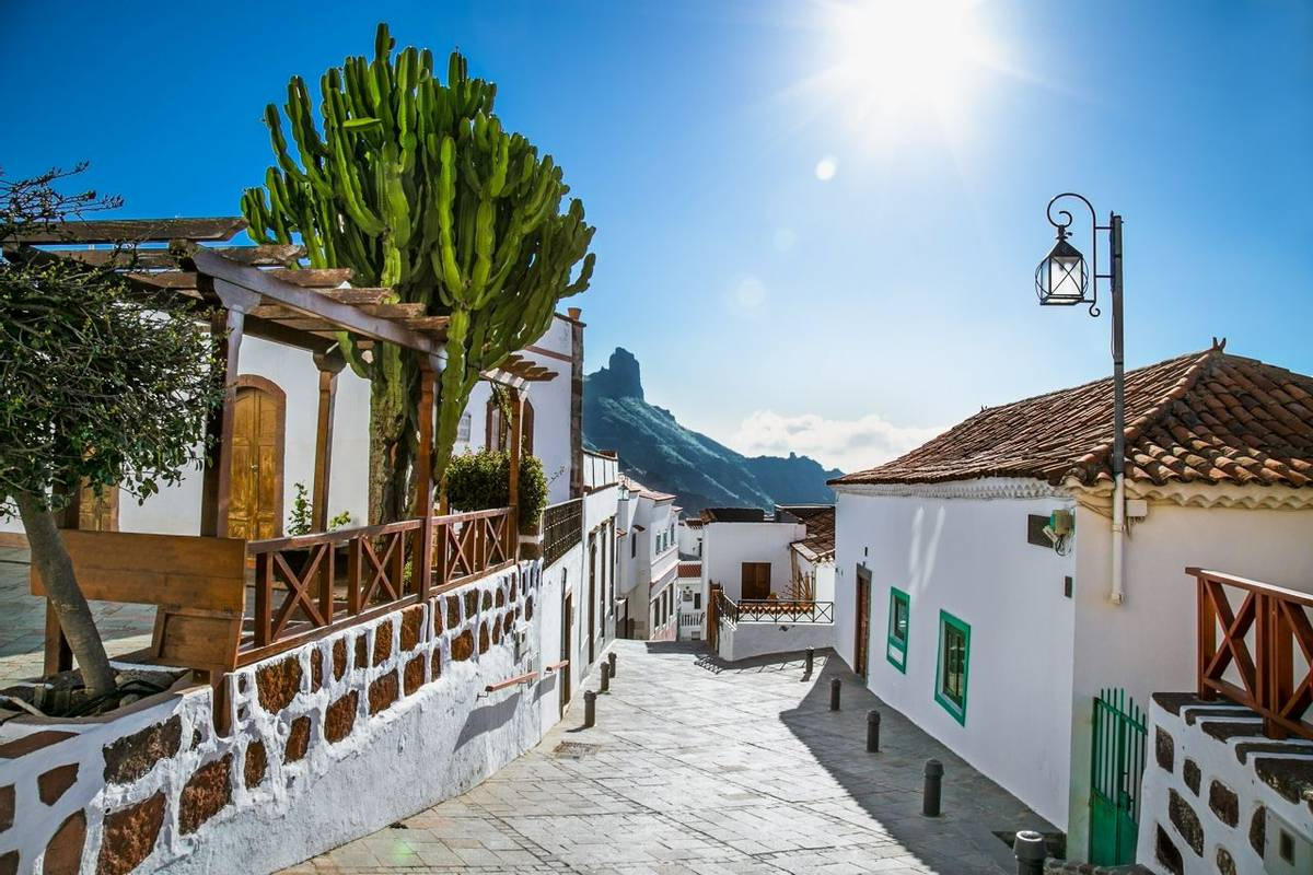 Tejeda village at Gran Canaria, Spain.