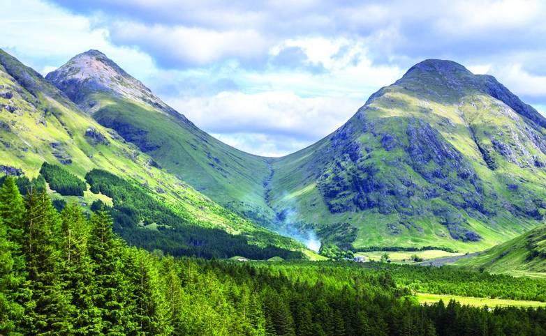 Highland hills in Glen Etive