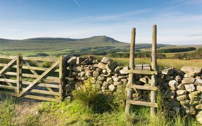 Wall and Stile at Ingleborough