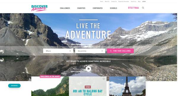 Discover Adventure Website