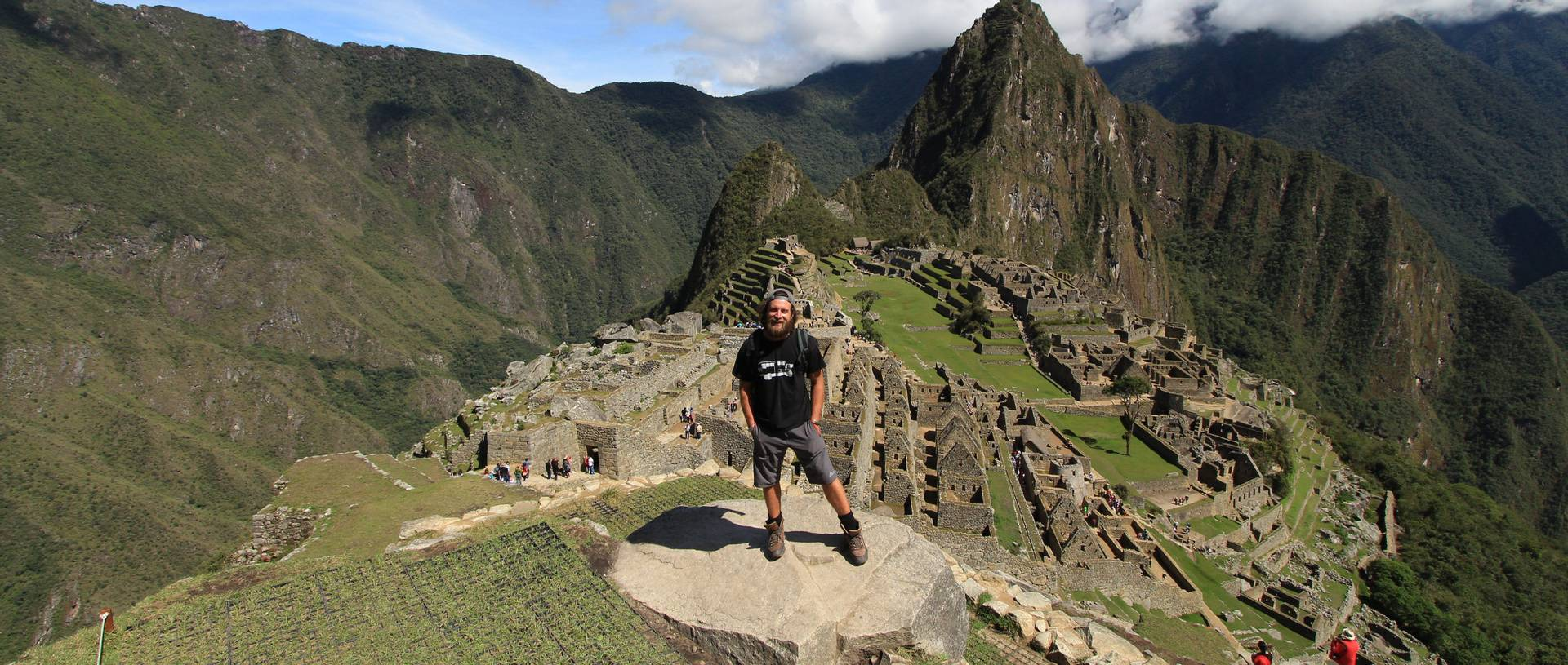 Cary standing at a view point of Machu Picchu.JPG