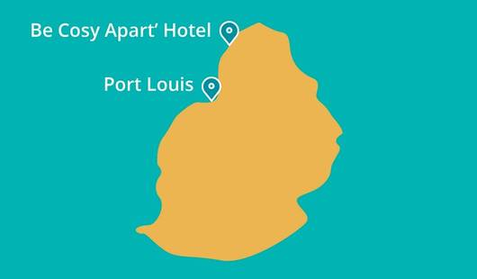 Be Cosy Apart Hotel Map