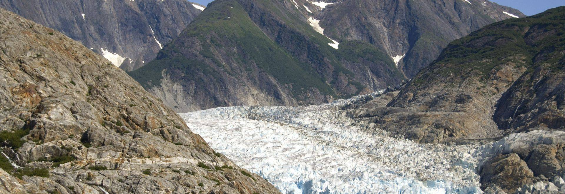Alaska Small icebergs floating from North Sawyer Glacier in Tracy Arm a 25 mile glacially carved valley