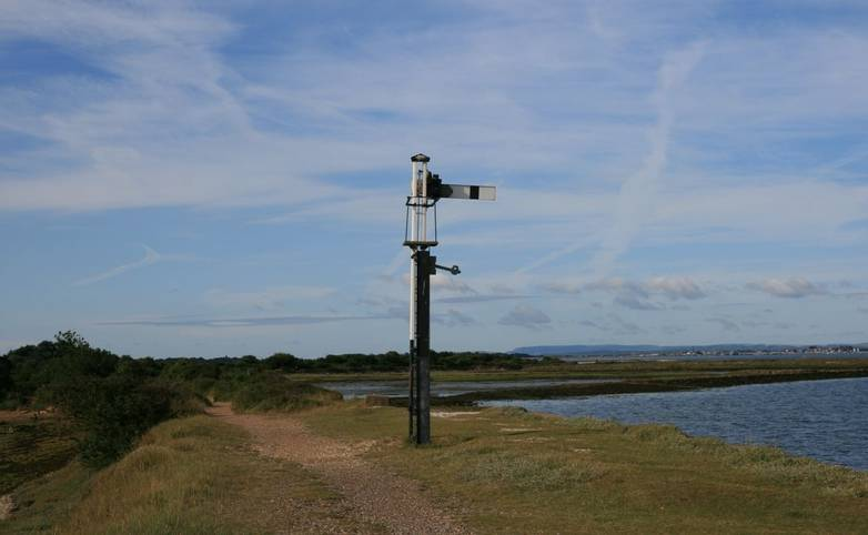 Old signal Hayling Billy Line.JPG