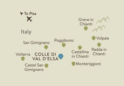 Chianti Itinerary Map
