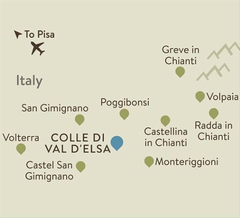 Chianti Itinerary Map
