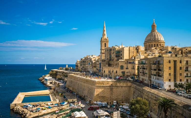 View of Valletta, the capital of Malta