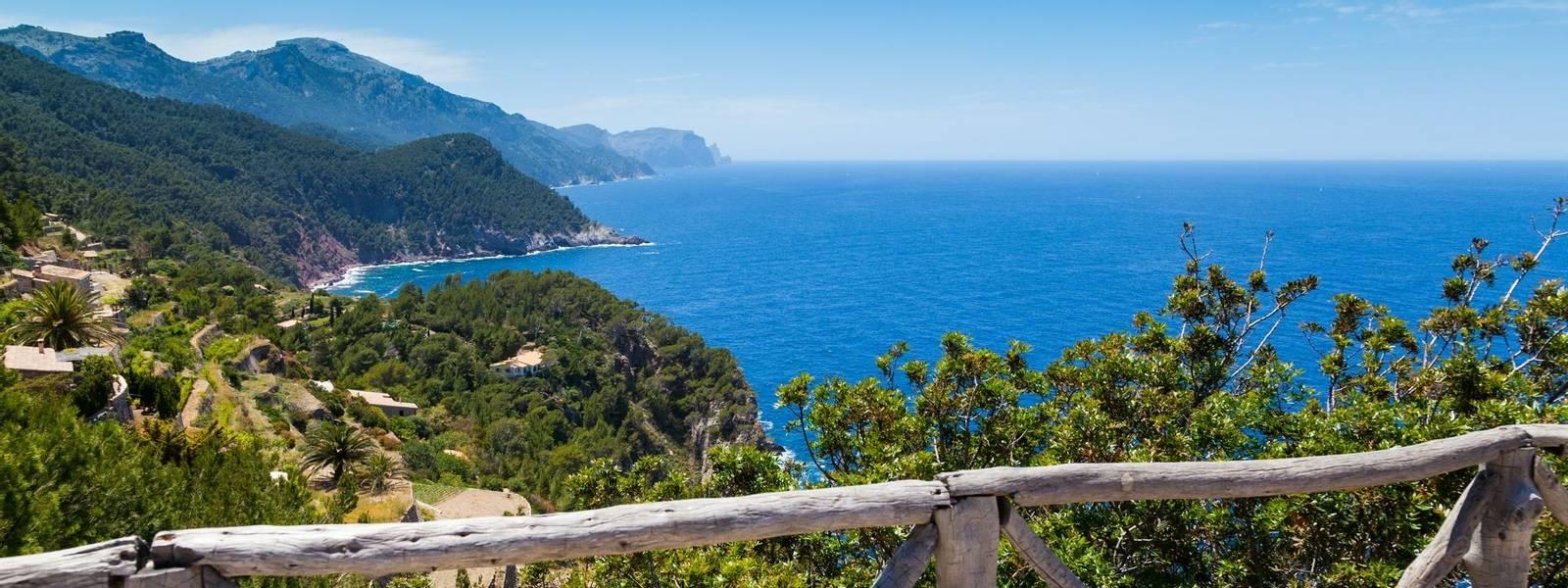 Tramuntana Mountain Range in Majorca North Coast from Verger Viewpoint