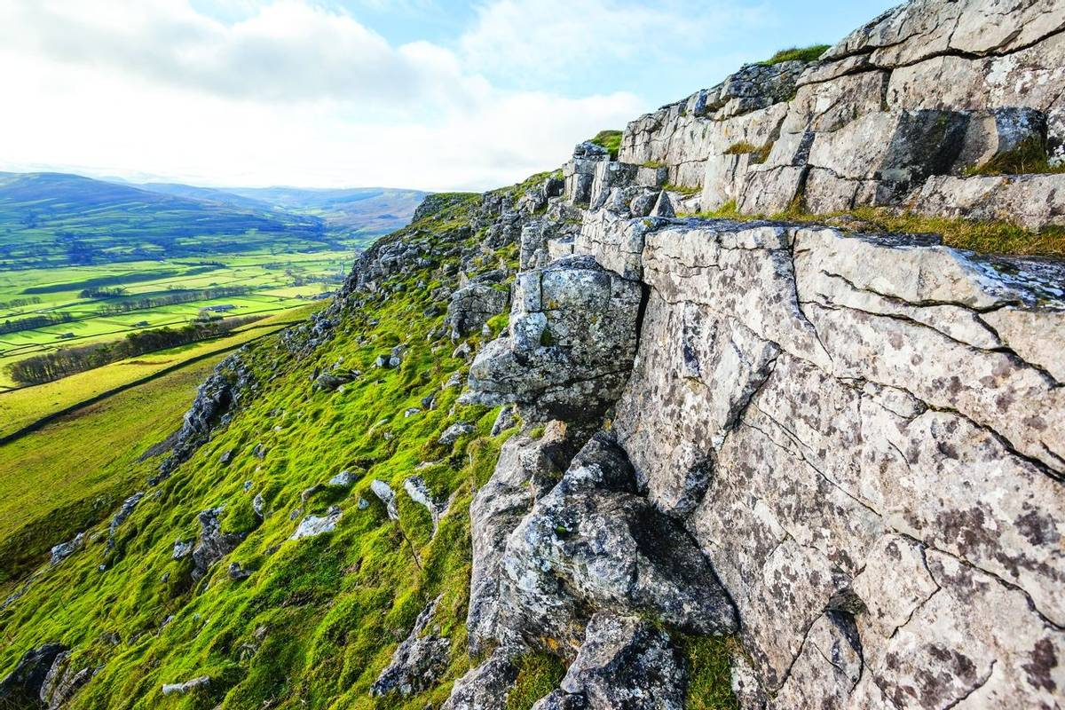 Limestone Scar in the Yorkshire Dales