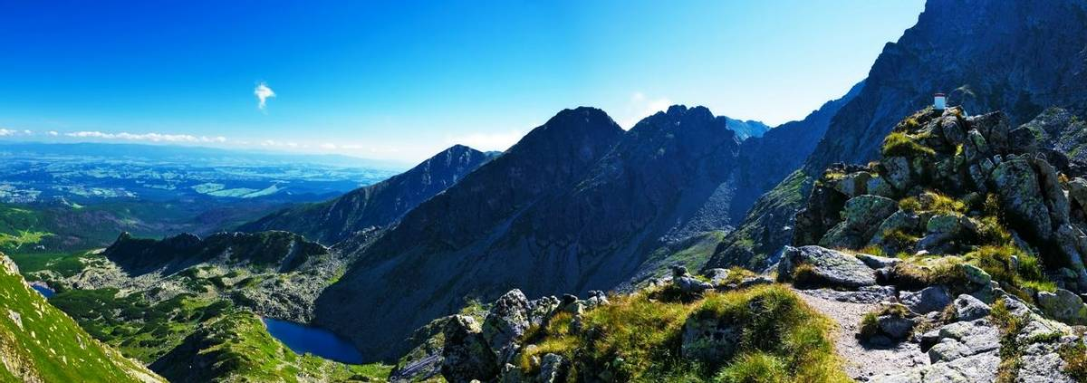 Panoramic from my way to the top Świnica in the Polish Tatras