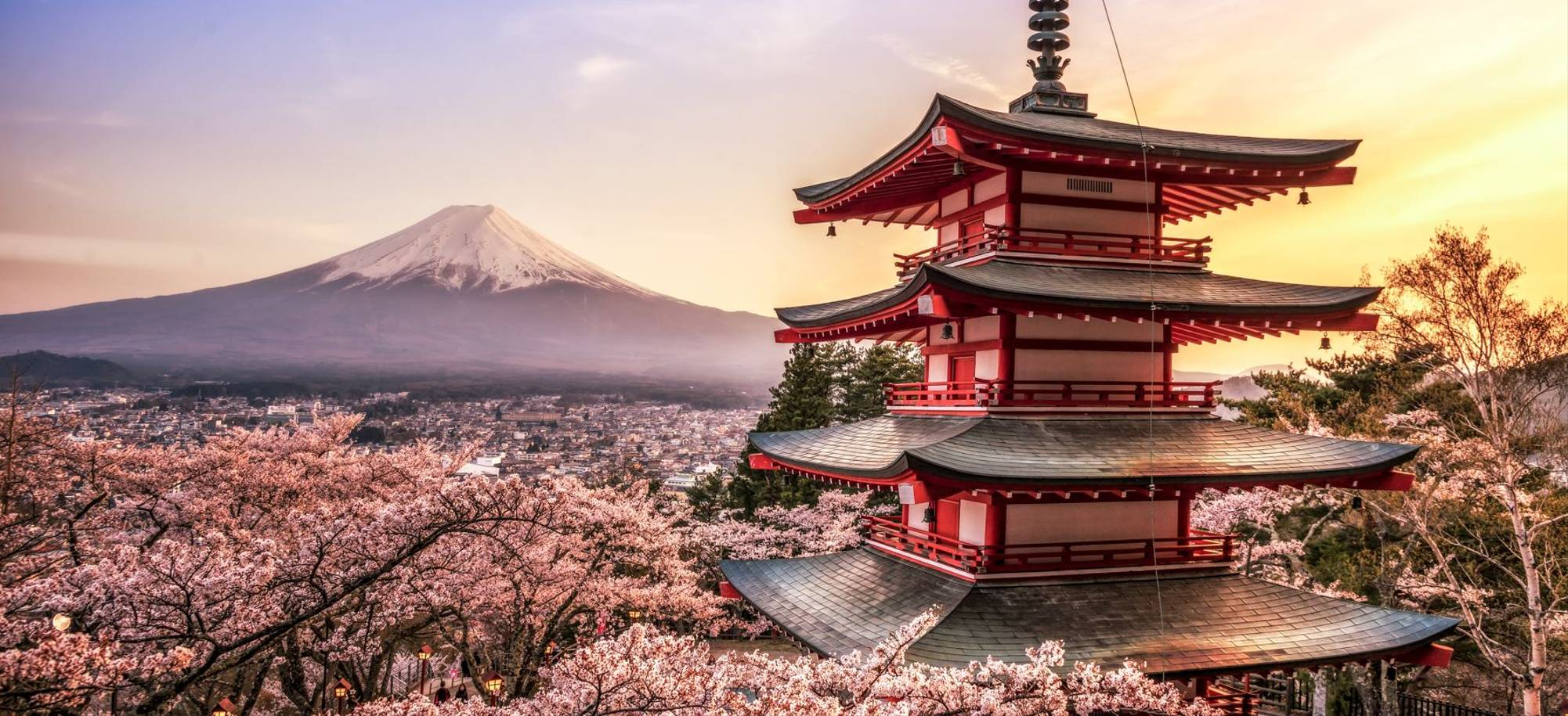 23 Day   Tokyo   Mountain Fuji And Chureito Pagoda At Sunset    Itinerary Desktop