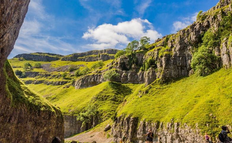 Amazing rock formations at Goredale Scar, Mallham, Yorkshire, UK