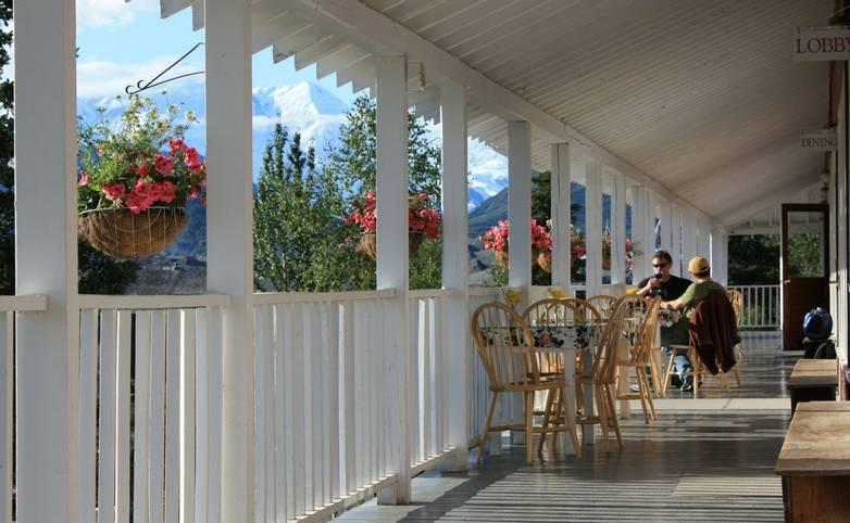 Alaska - Kennicott Glacier Lodge -kgl_Front Porch.JPG