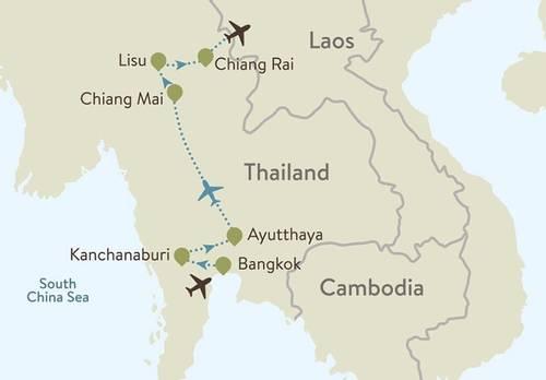Thailand Itinerary Map