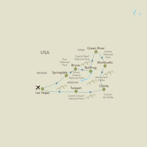 Grand Canyon Itinerary Map
