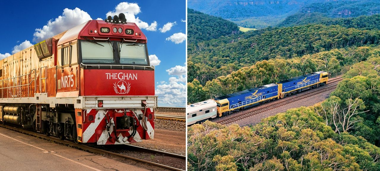 From the East Coast to the Centre of Australia – Double Train Experience