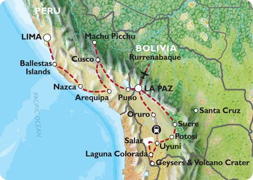 LIMA to LA PAZ (34 days) Peru & Bolivia Encompassed (Inc. Amazon Jungle)