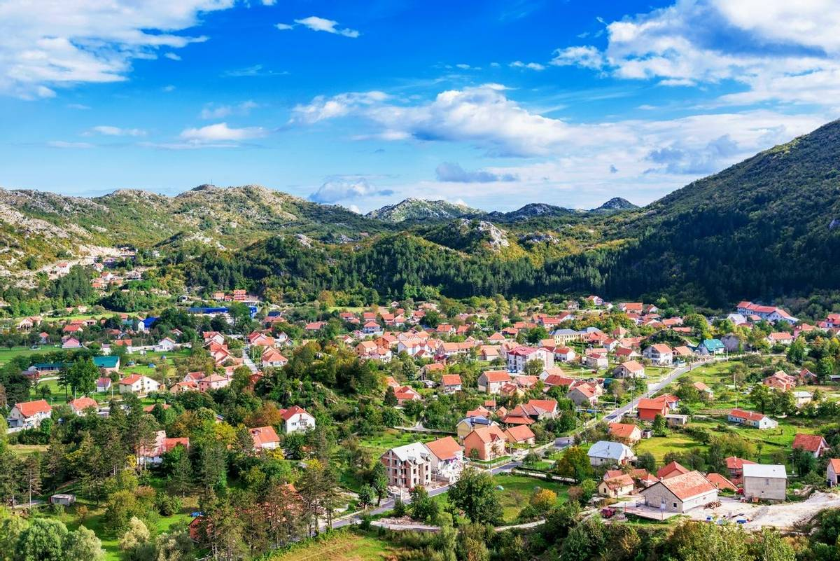 Houses in Cetinje Montenegro