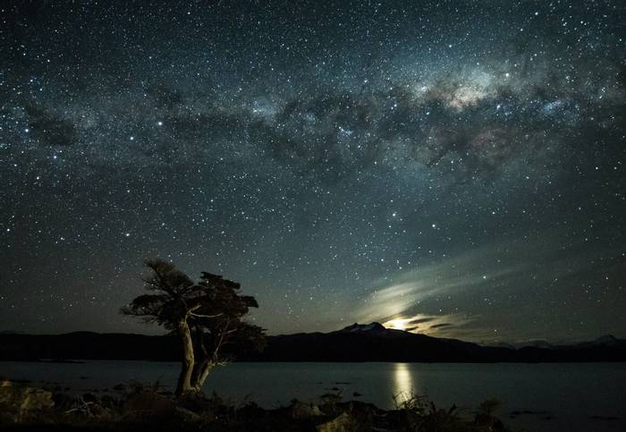 The Milky Way over Lake Pehoe in Torres del Paine National Park (Tim Melling)