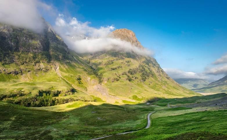 Scottish Highlands of Popular Tourism Destination -  Glen Coe