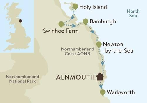 St Oslwalds Way Coastal Map