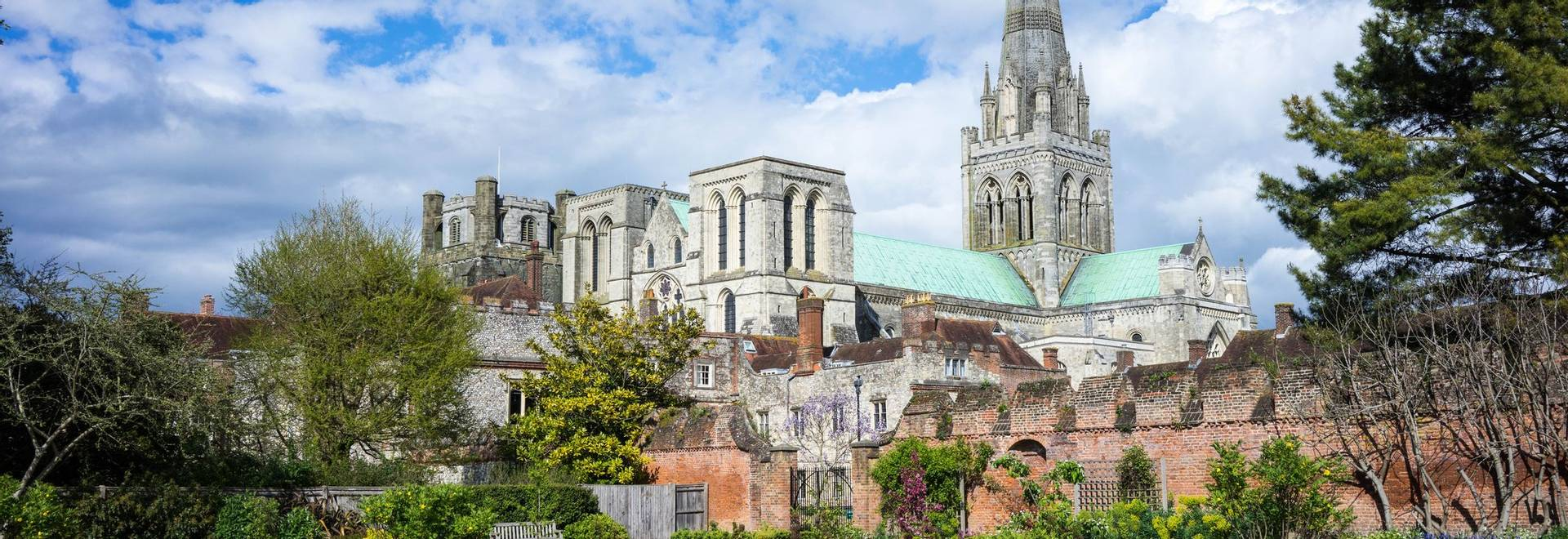 Chichester Cathedral and the Bishops Gardens, Chichester, West Sussex