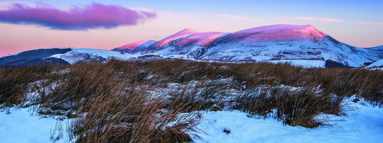 Winter Sunrise on Skiddaw