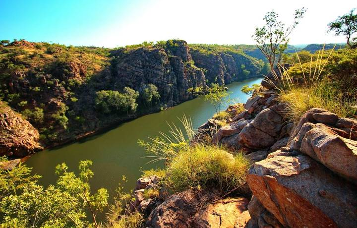 Spectacular landscape with the Katherine River in Northern Territory, Australia.