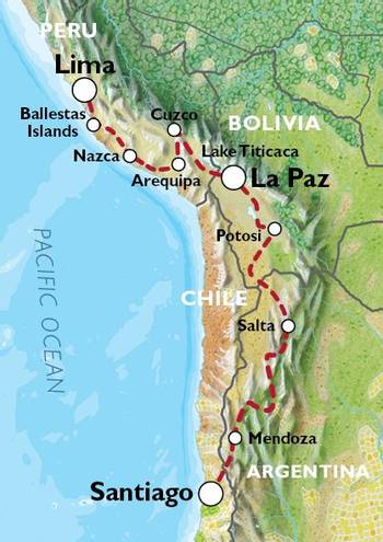 LIMA to SANTIAGO (35 days) The Cordilleras