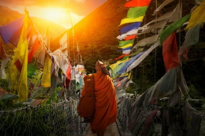 Monk hiking, Bhutan shutterstock_1023268150.jpg