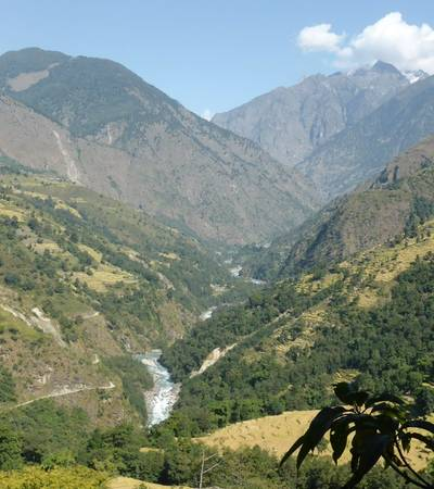 Marsyangdi valley on Annapurna Circuit trail