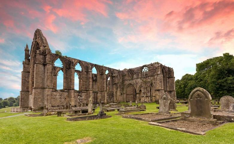 Bolton Abbey sunset