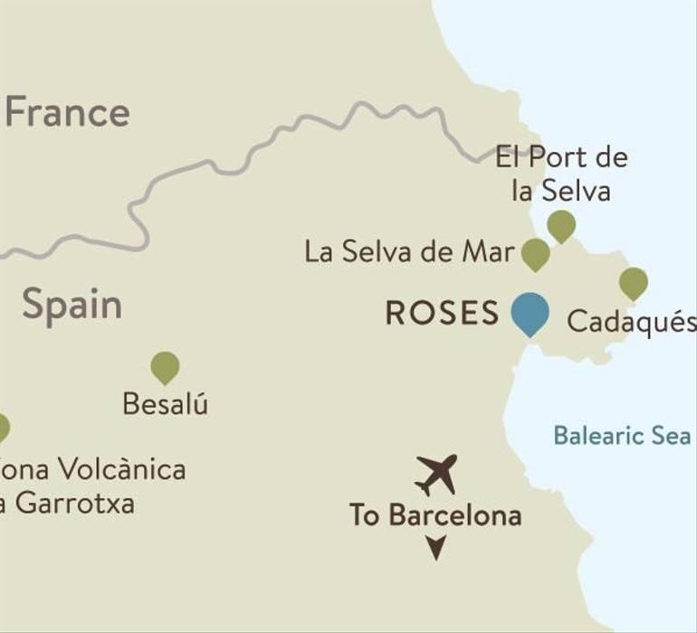 Catalonia Itinerary Map