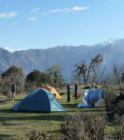 Camp at Lamodhunga (2,200m)