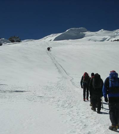 On way to High Camp on Mera glacier