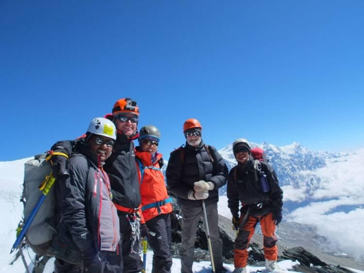 Summit of Dhampus Peak in Nepal