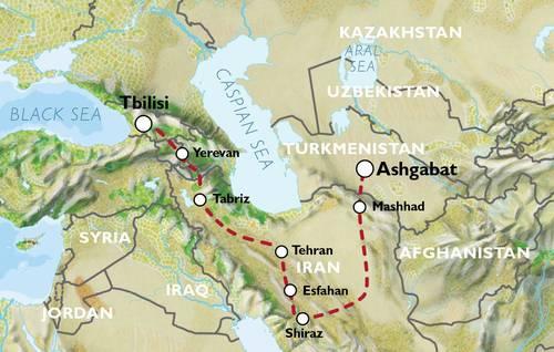 ASHGABAT to TBILISI (24 days) Iran Caravan