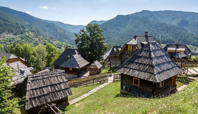 The traditional village of Drvengrad, Mokra Gora, Zlatibor District, Uzice municipality, Zlatibor District, Serbia