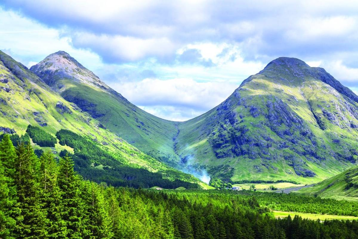Highland hills in Glen Etive