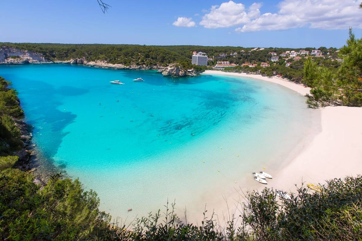 Menorca Cala Galdana Beach in Ciutadella at Balearic
