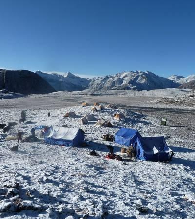 Worithang camp at 4,400m