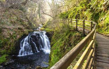 Glenarif Country Park, County Antrim, Northern Ireland. Glenariff is on of the Nine Glens of Antrim and known as the Queen o…