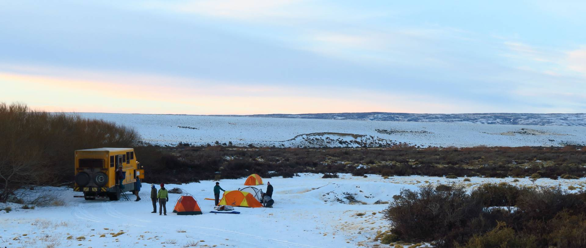 Oasis Overland camping in the snow in Patagonia.JPG