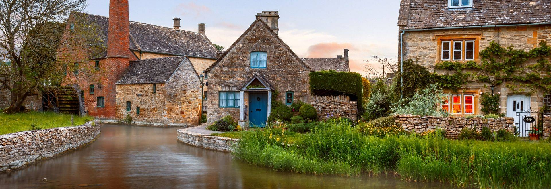 The Old Mill at Lower Slaughter, Cotswolds, Gloucestershire, England.