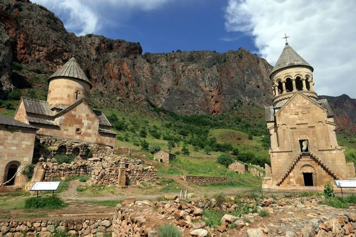 13th Century churches in the Noravank Gorge by Clive Pickton