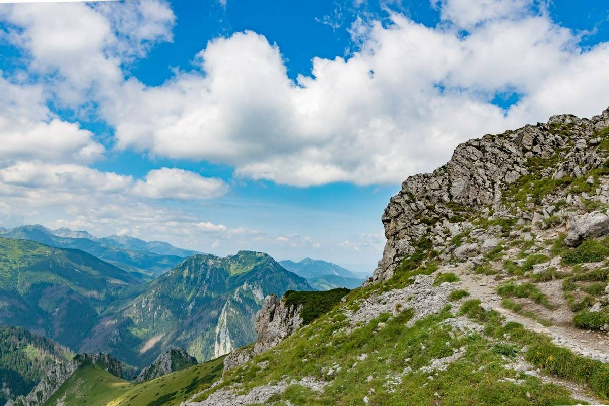 Mountain trail to Czerwone Wierchy